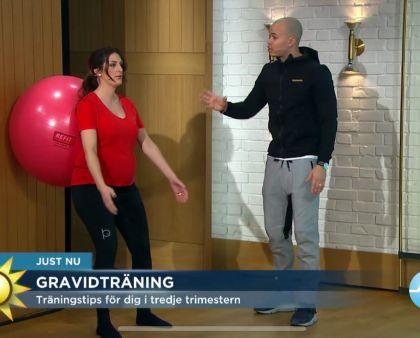 Sveriges största morgonprogram visar träning för gravida