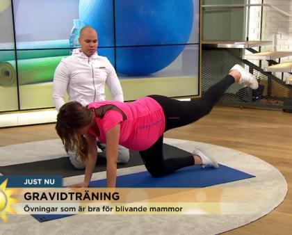 Sveriges största morgonprogram visar träning i tredje trimestern