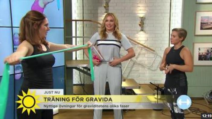Sveriges största morgonprogram visar träning för gravida igen
