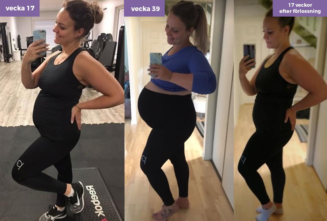 Från v.17 till 17 veckor efter förlossningen